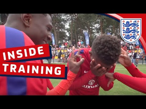 England U21 Two-Touch with Ear Flick Forfeit | Inside Training