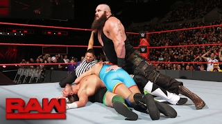Braun Strowman vs. local competitors - 4-on-1 Handicap Match: Raw, Feb. 6, 2017