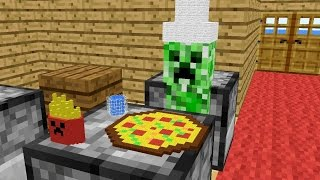 Monster School: Cooking - Minecraft Animation