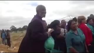 umfundisi uNtshebe party at the funeral