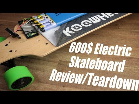 600$ Electric Skateboard (Koowheel) Review/Teardown