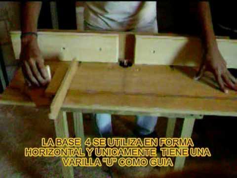 Router rebajadora de madera