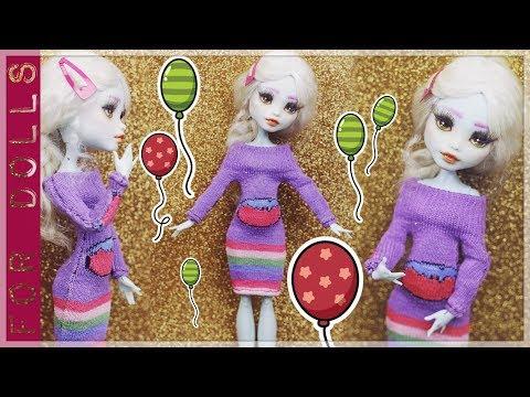 219Как сделать платье для кукол