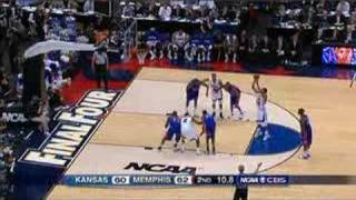 Mario chalmers 3-point shot at the 2008 NCAA Championship