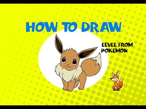 How to draw Eevee from Pokemon - STEP BY STEP GUIDE - DRAWING TUTORIAL GUIDE