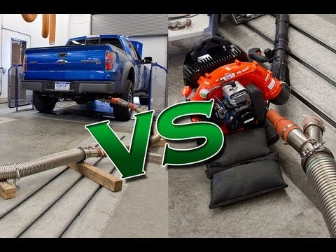 Emissions Test: Car vs. Truck vs. Leaf Blower