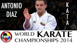Antonio DIAZ of Venezuela. Kata Suparimpei. Bronze Medal. 2014 World Karate Championships