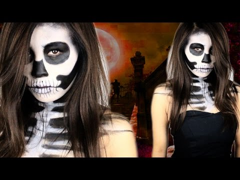 halloween totenkopf schminken einfach schnell make up by kisu youtube. Black Bedroom Furniture Sets. Home Design Ideas
