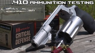 Taurus Judge/ S&W Governor .410 personal defense ammunition testing in SlowMo! (4K)