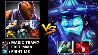 EPIC MAGIC TEAM Super Carry Storm vs 8000 MMR Anti Mage Crazy Rapier Late Game Battle Dota 2