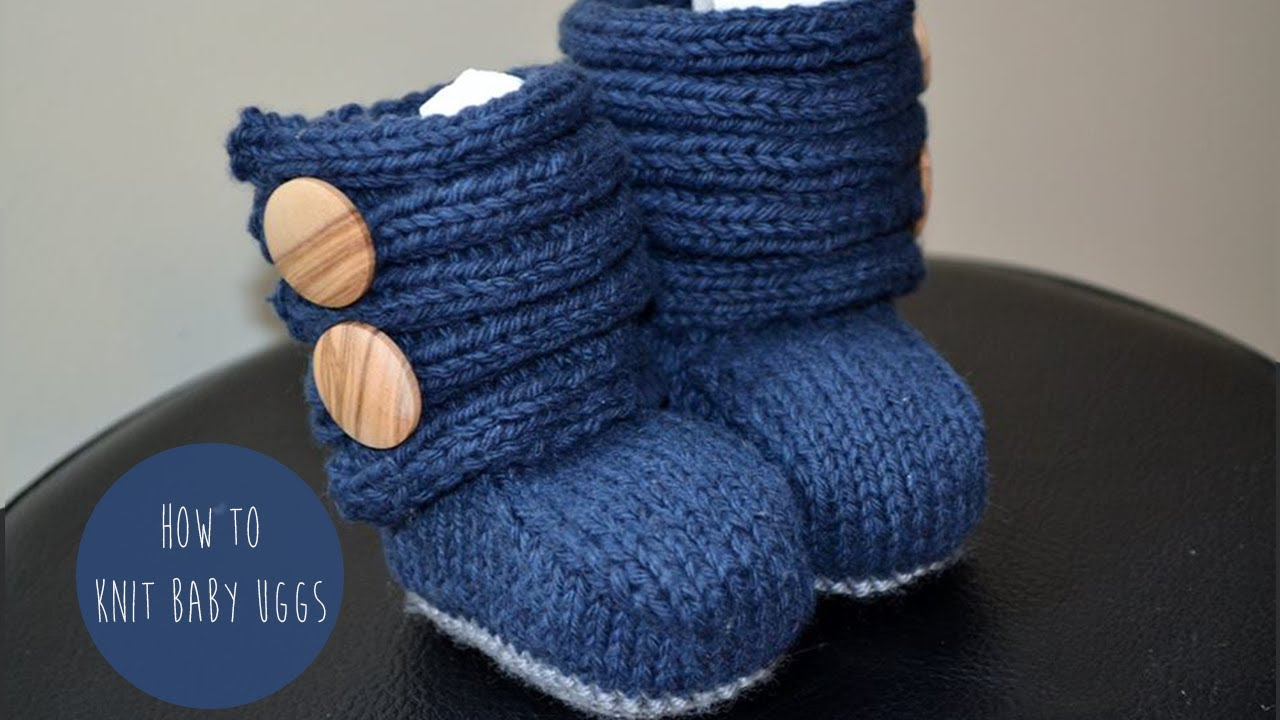 HOW TO KNIT BABY UGGs(booties) - YouTube