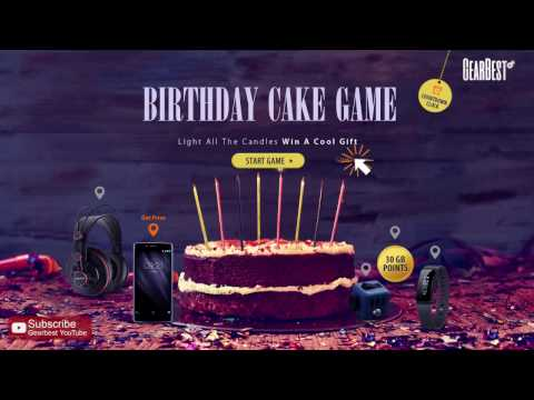How to play 3rd birthday cake game at Gearbest?