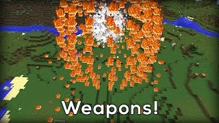 MORE WEAPONS in Minecraft! (no mods!)