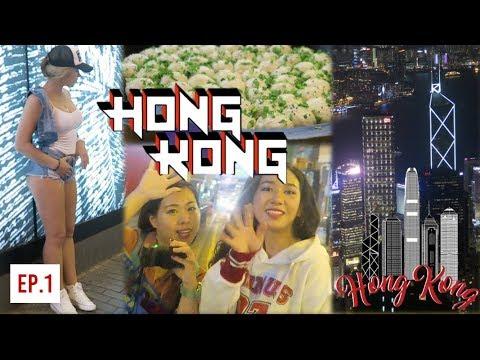 FIRST TIME IN HONG KONG... VLOG!! 🇭🇰 INSANE Peak City View + Fire Dumplings Food + Girls + Nightlife