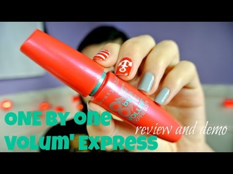 {MMM}: Maybelline ONE by ONE Volum' Express Mascara Review/Demo!!