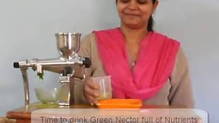 Manual wheatgrass Juicer - juice extractor from Addy Wheatgrass