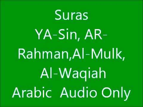 Suras Al-waqiah,al-mulk,ya-sin,ar-rahman video
