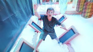 BALL PIT Obstacle Course!
