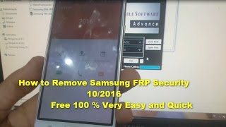 How to Remove Samsung FRP Security 11/2016 Free 100% Very Easy and Quick - New TOOL