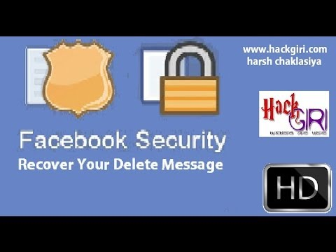 how to recover deleted facebook messages And Find Deleted Messages On FB