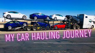 Truck driving, CDL, car hauling, my trucking Journey video 31
