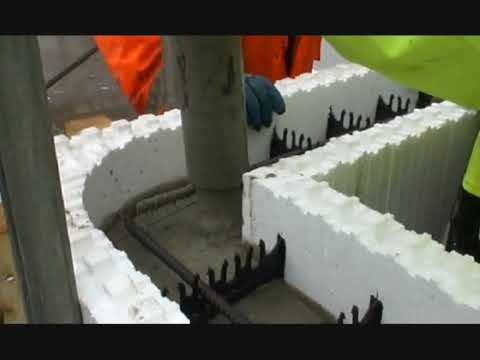 Amvic icf basement concreting how to save money and do for Insulated concrete forms basement