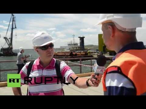 Russia: International media in Crimea for tour of region's infrastructure projects
