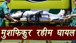 Mushfiqur Rahim injured after helmet blow, out of immediate danger   वनइंडिया हिन्दी