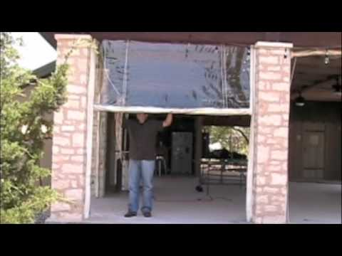 Rope And Pulley Rigged Clear Vinyl Curtains Youtube