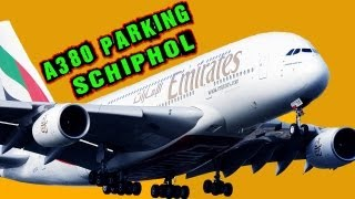 A380 Emirates Special Schiphol - Parking HD