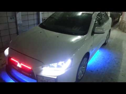 Mitsubishi Lancer GTS 2008 Custom : Neon + Body Kit + Knight Rider + Head & Tail Lights