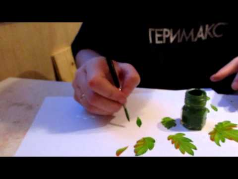 Мастер класс петриковской росписи видео
