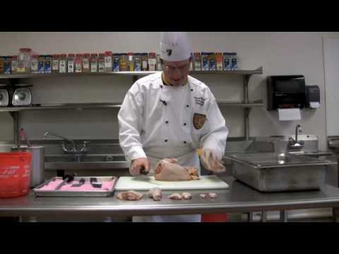 How to Butcher a Chicken- Baltimore International College Demonstrates How to Butcher a Chicken