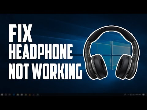 How To Fix Headphone/Sound Not Working In Windows 10 Computer