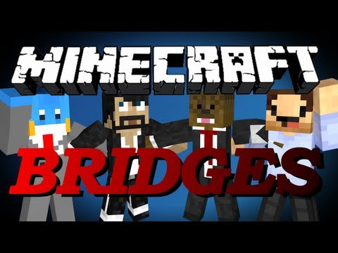 Minecraft Bridges 2.0 Minigame w/ CaptainSparklez, HuskyMudkipz, and MrWoofless