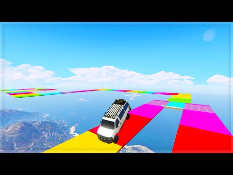 RAINBOW ROAD!! (GTA 5 Online Funny Moments)