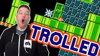 You Can Feel The RAGE That Went Into This TROLL Mario Maker Level!!