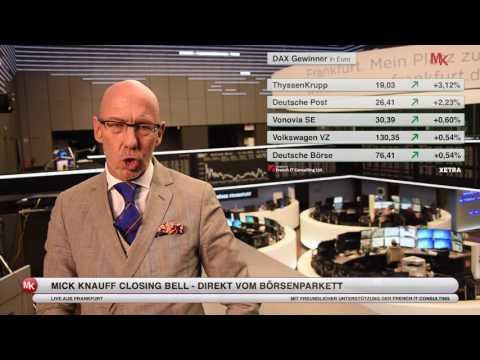 DAX kämpft weiter um 10 000 Punkte - Mick Knauff´s Closing Bell live aus Frankfurt 11.05.2016