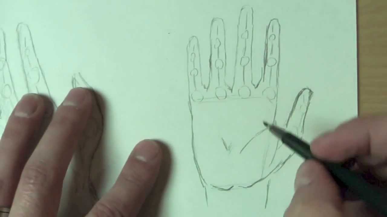 wie zeichnet man h nde how to draw hands youtube. Black Bedroom Furniture Sets. Home Design Ideas
