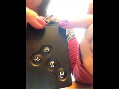 How to Change Replace Battery in Renault Megane Key Card New Style