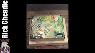 17.Dirty Pour. Acrylic Pouring Using Elmer's Glue, Acrylic Paints and Silicone(E-CC1)