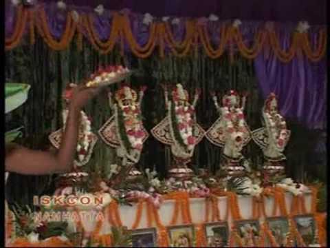Iskcon Mayapur sandhya-aarati video