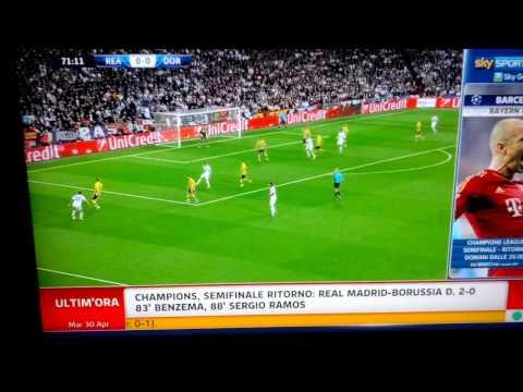 Real Madrid-Borussia Dortmund 2-0 Sky Sport