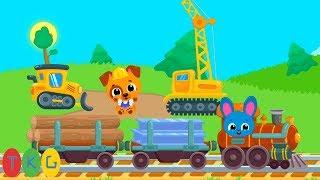 Xe Ủi Đất, Cần Cẩu, Xe Lửa - Trains | TopKidsGames (TKG) 360