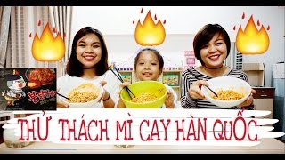 THỬ THÁCH MÌ CAY HÀN QUỐC - SUPER SPICY NOODLE CHALLENGE - SONG THƯ CHANNEL