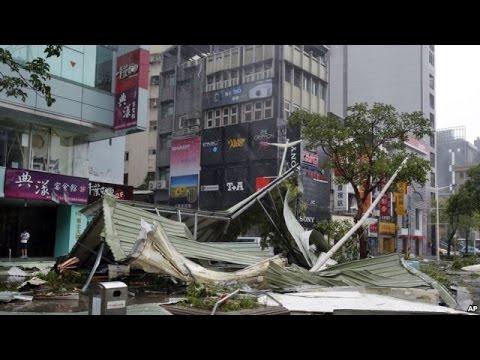 Berita 11 Agustus 2015 - VIDEO Angin Topan Hantam Taiwan Dan Gunung Api Colima Meletus