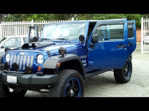 2KRacing Jeep Wrangler Unlimited X Custom 4dr Lifted Audio Video System Quad Exhaust