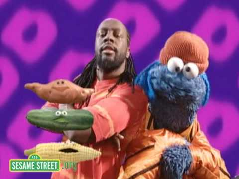 Sesame Street: Wyclef Jean And Cookie Monster Sing About Hea Video