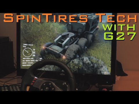 Spin Tires new Truck [MAZ] with G27 Steering Wheel (1080p. 2013) offroad gameplay demonstration