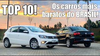 Os carros mais baratos do Brasil em 2018 - Falando de Carro